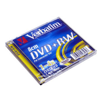 Диск DVD-RW mini Verbatim 4x 1.4Gb Slim #43564