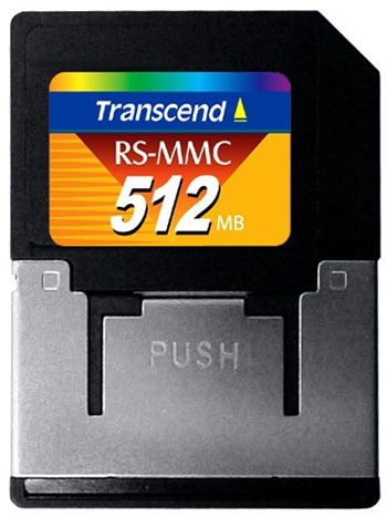 RS-MMC card 512mb Transcend