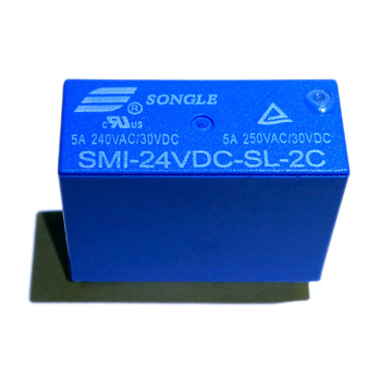 Реле SMI-24VDC-SL-2C 24V 5A Songle