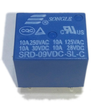 Реле SRD-09VDC-SL-C 9VDC Songle 10A