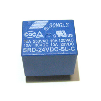 Реле SRD-24VDC-SL-C 24VDC Songle 10A