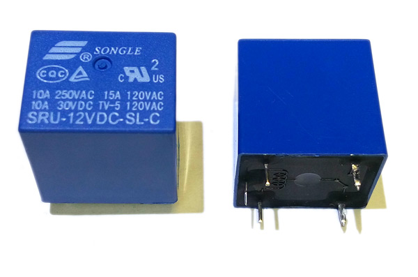 Реле SRU-12VDC-SL-C 12VDC Songle 10A